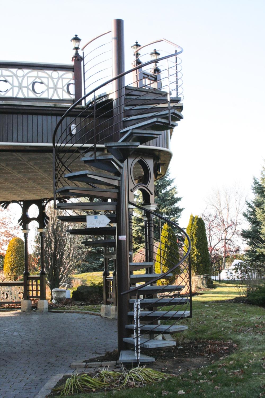 Tire bouchon ext rieurs escaliers battig design for Escalier colimacon exterieur