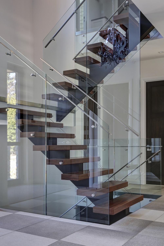 escalier quart tournant limon central marches en bois. Black Bedroom Furniture Sets. Home Design Ideas