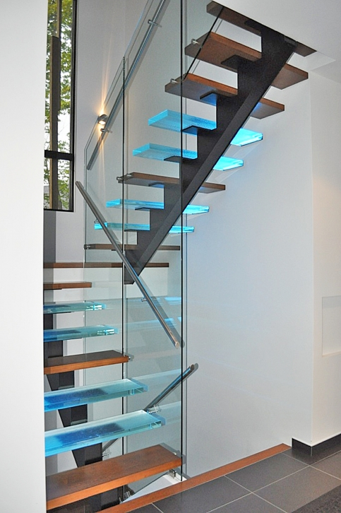 Vert bral verre escaliers battig design - Main courante escalier originale ...