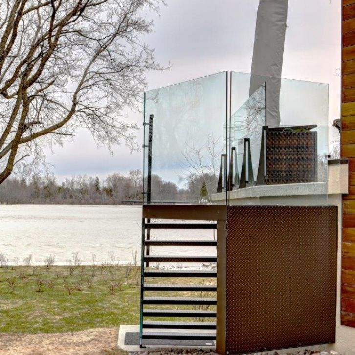 Modern aluminium stair - Glass - Fences - Battig Design