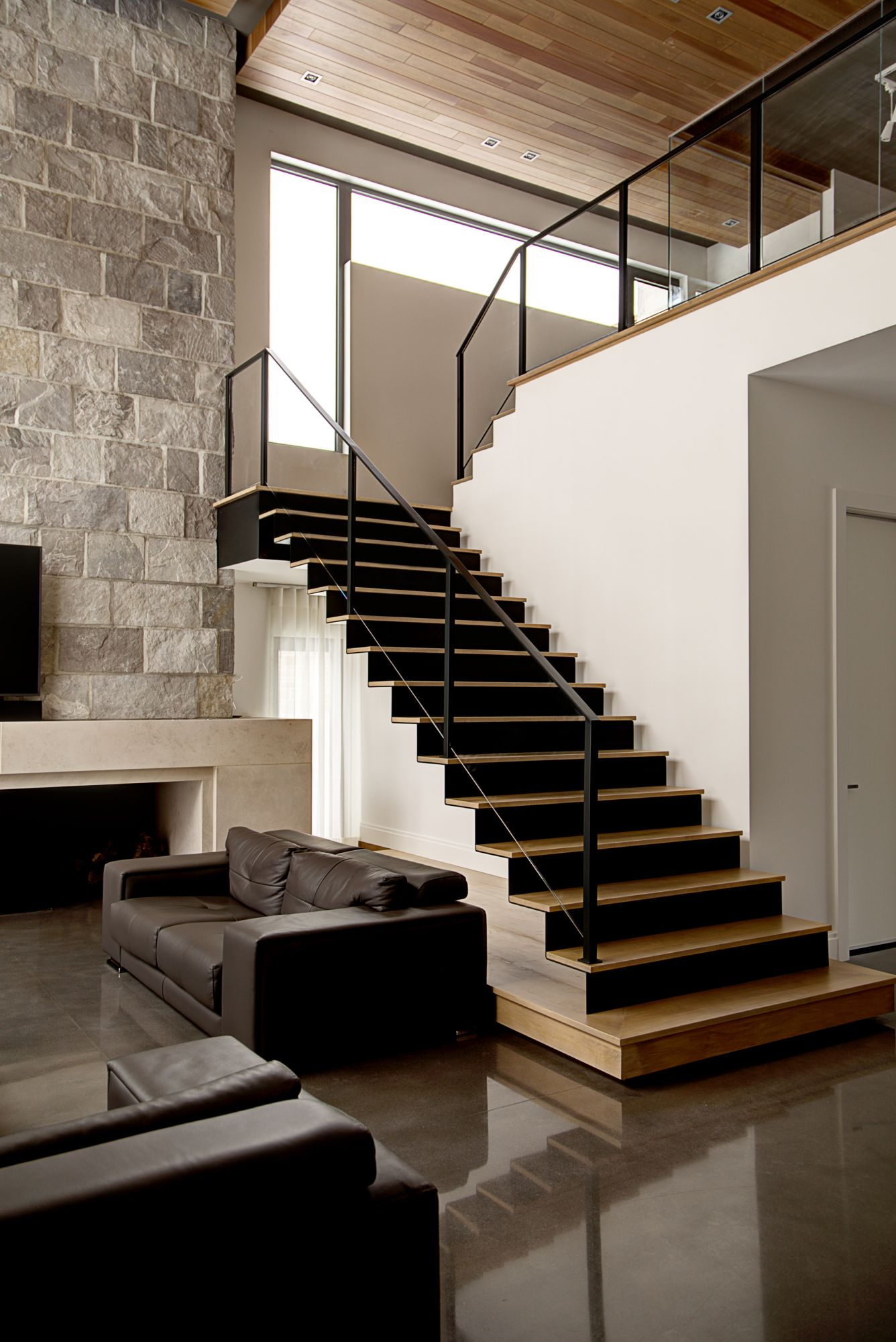 Central stringer staircases   Bättig Design